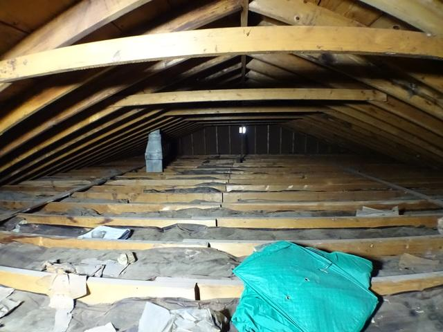 St. Clairsville OH  Air Sealed and Insulated Attic - Before Photo