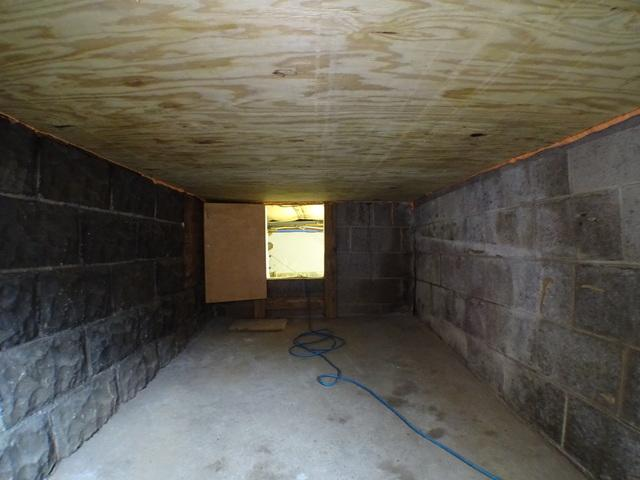 Pittsburgh PA Air Sealing and Cellulose Dense Packing a cellar ceiling