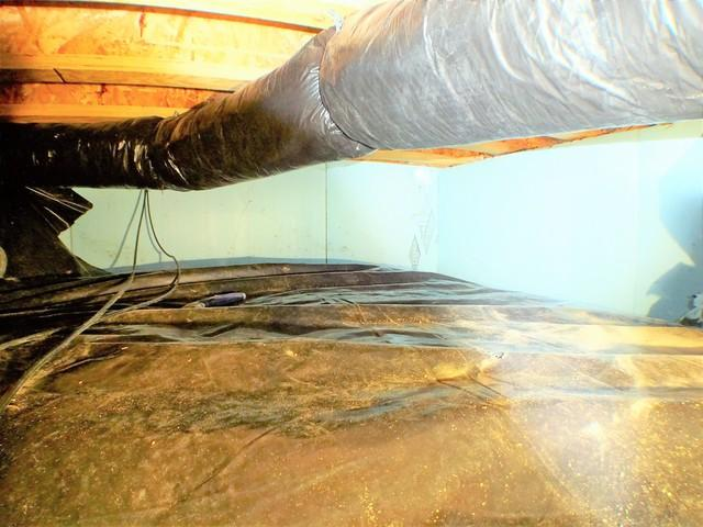 St. Clairsville, OH Home Inspector Get His Crawlspace Encapsulated