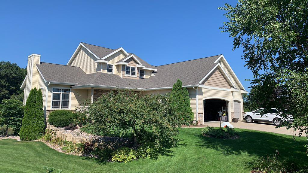 Hail Damaged Roof Replaced in Waunakee, WI - After Photo