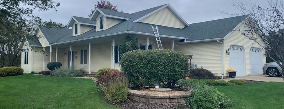 Hail Damage on Country Home near Mount Horeb - Before Photo