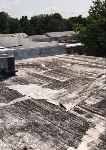Commercial Flat Roof in Mazomanie, WI - Before Photo