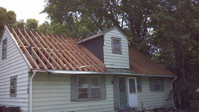 Roof Replacement in Madison, WI - Before Photo