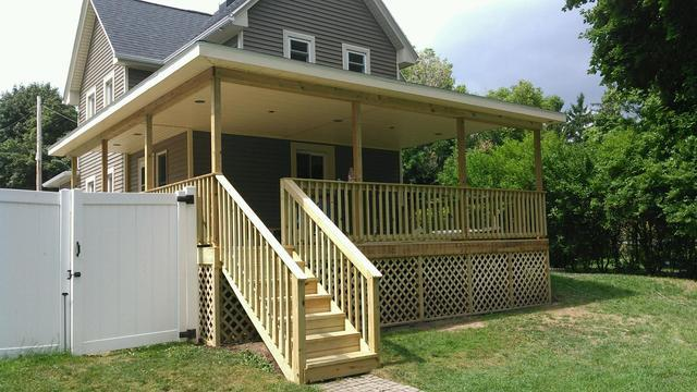 New Porch Built in Manchester, NY