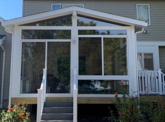 New Sunroom on Deck in Penfield