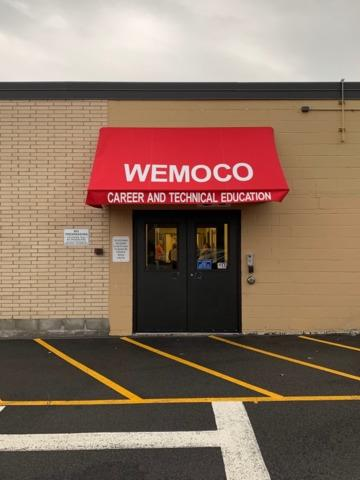 New Awning to cover Commercial Door Entrance in Spencerport, NY