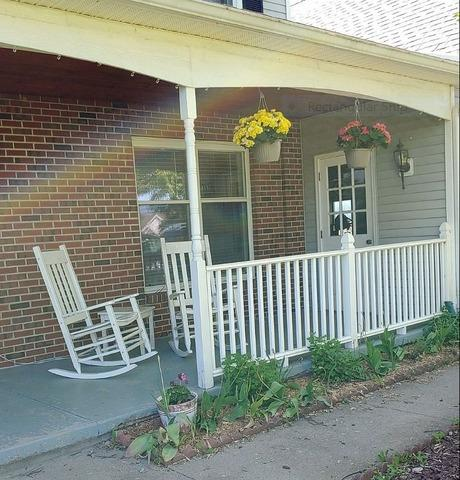 Porch Posts Wrapped in Canandaigua, NY
