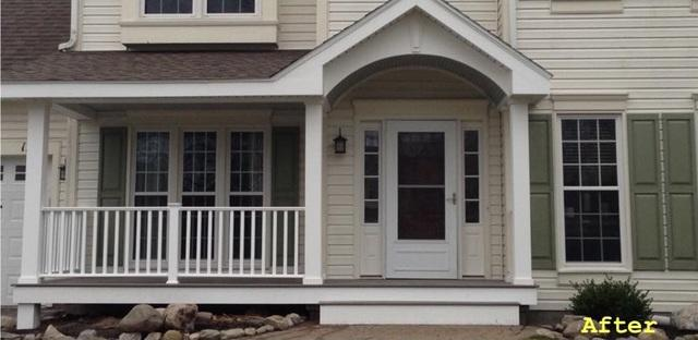 New Porch Built in Gananada, NY