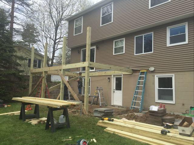 Building a composite deck in Fairport, NY