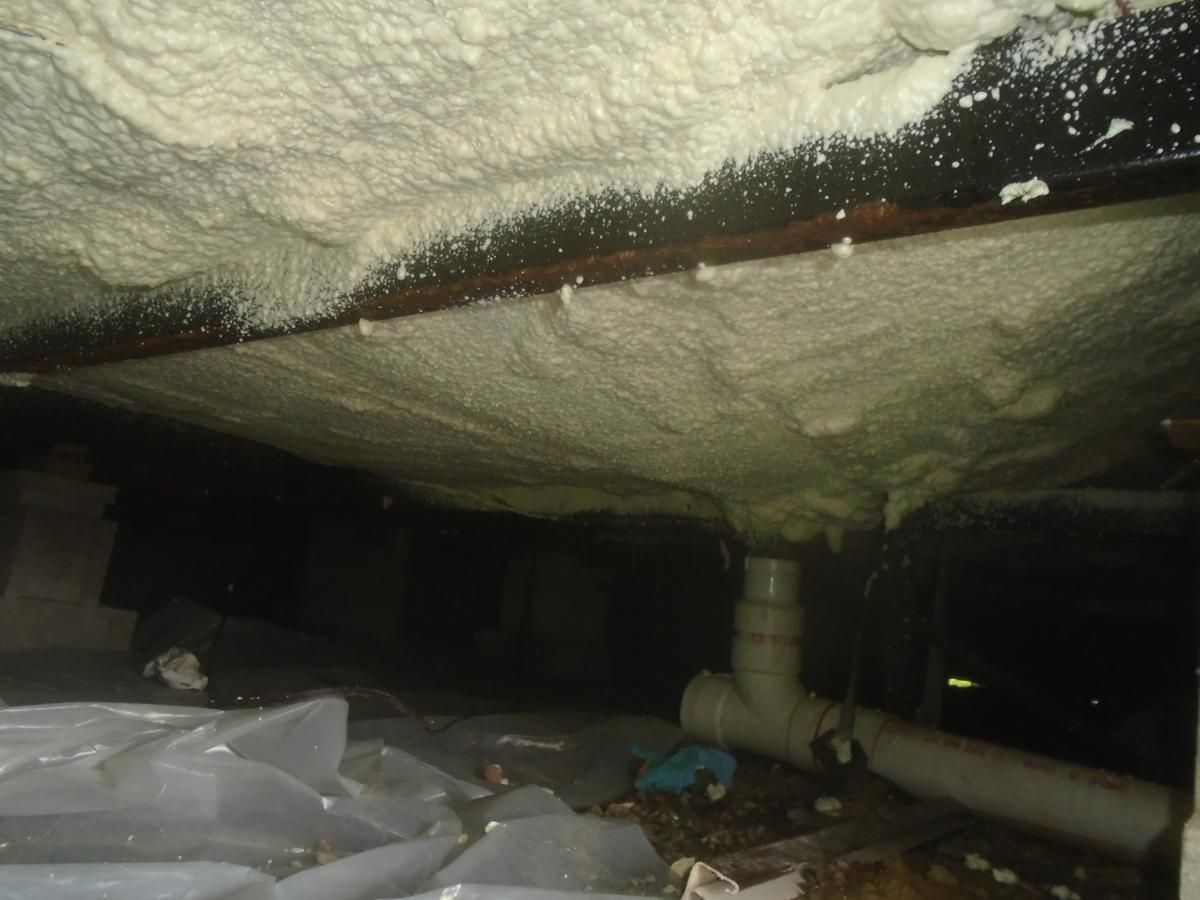 Spray Foam Insulation Under A Mobile Home In Pavilion, NY - After Photo