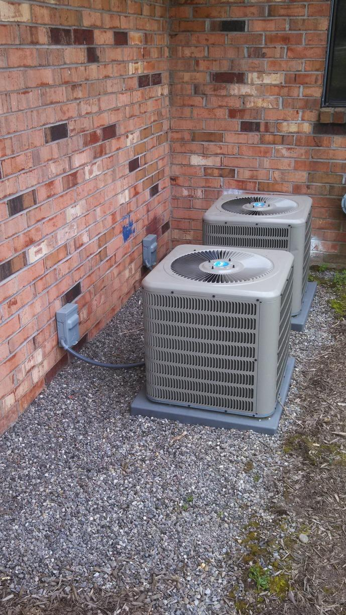New High Efficiency Furnace and A/C Unit for Chili Commons - After Photo