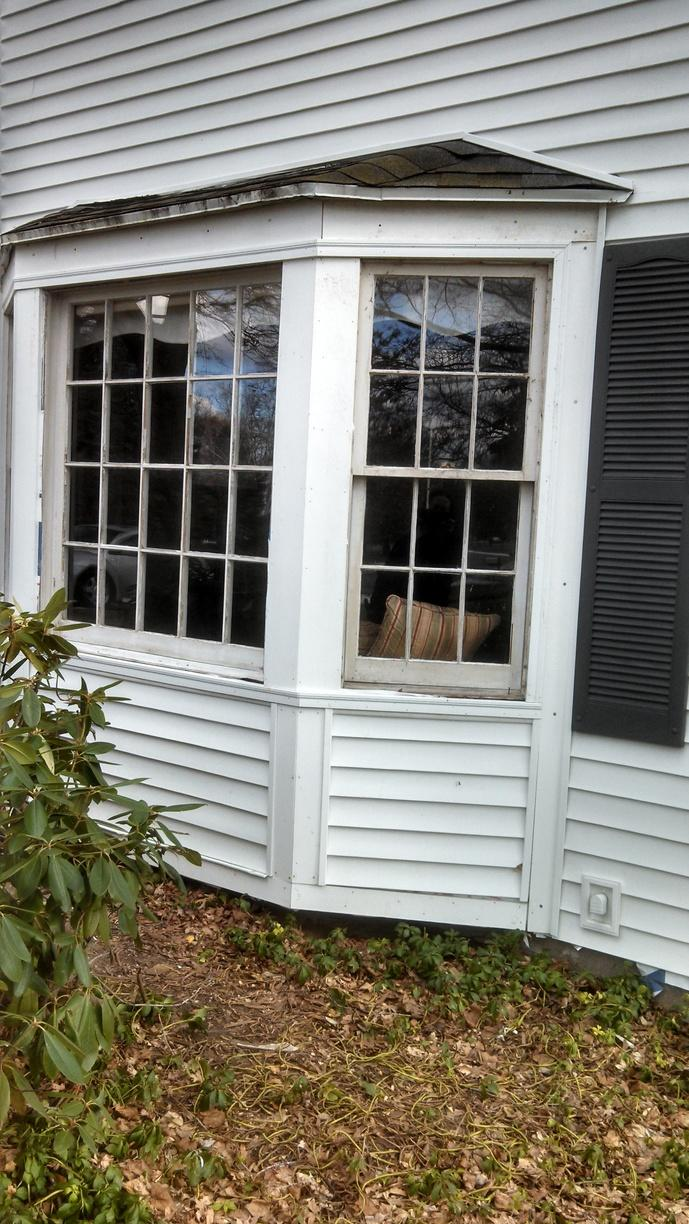Old, Leaky Windows Replaced in Fairport, NY - Before Photo