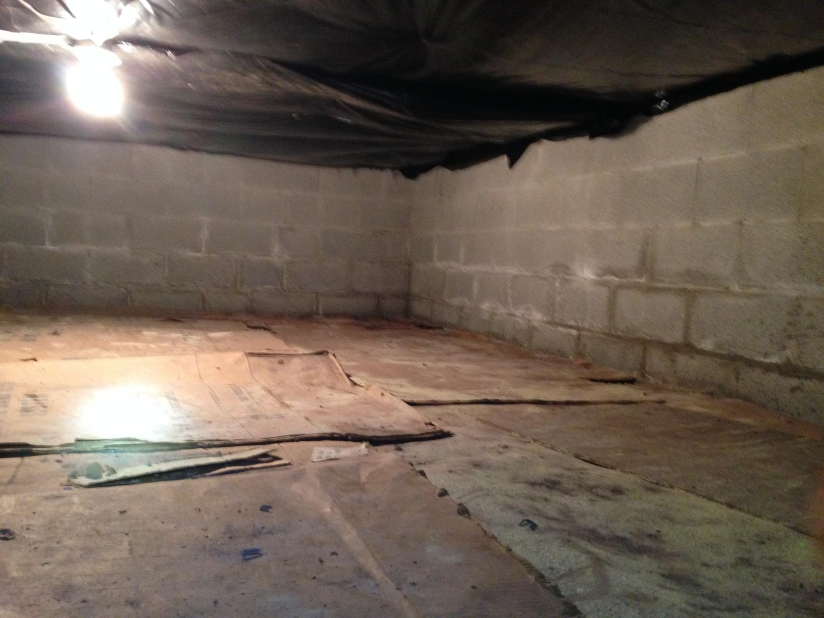 Mt. Morris, NY - Spray Foam Improved Comfort in Living Space Above Crawl Space - Before Photo