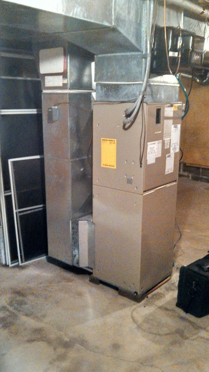 Fairport Heat-Pump Replacement - Before Photo