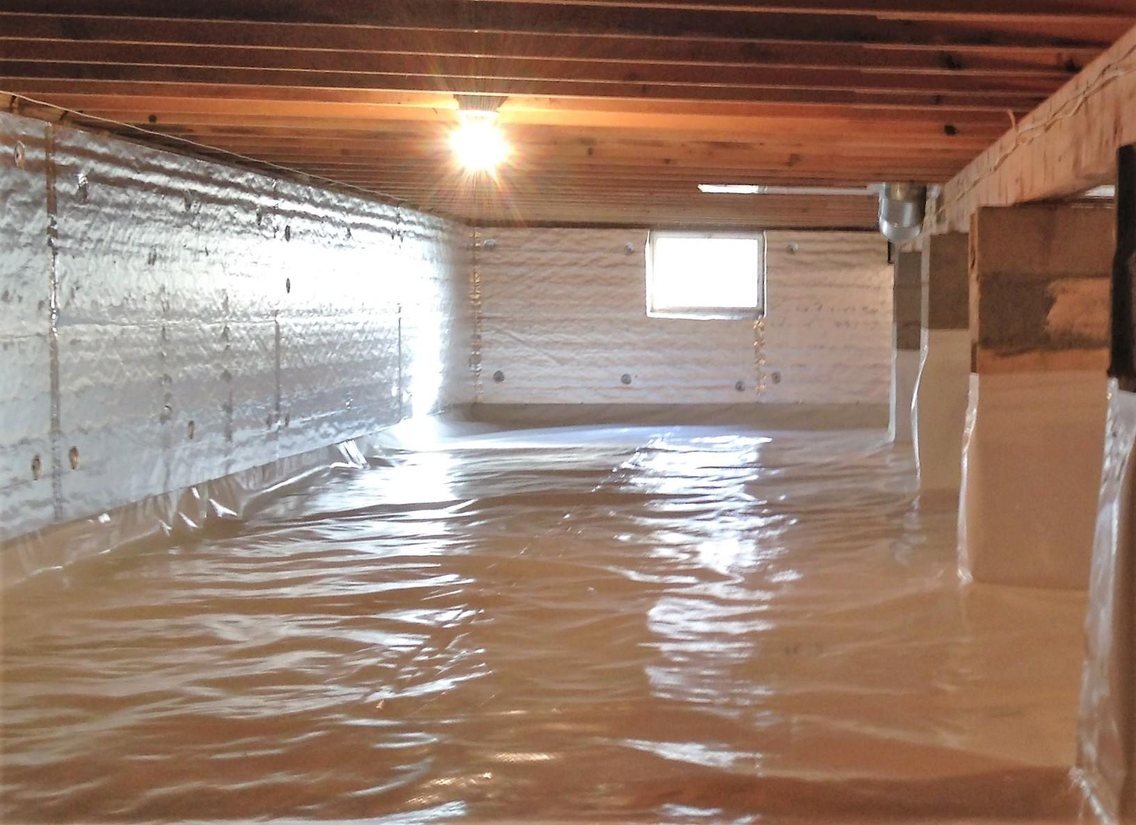 Crawl Space Insulation in Stanley, NY - After Photo