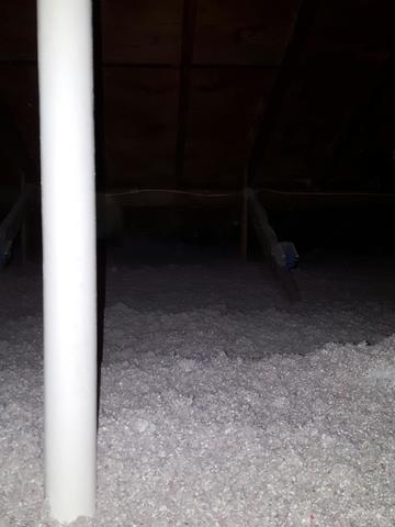 Webster home on Slab with poorly insulated ductwork in attic