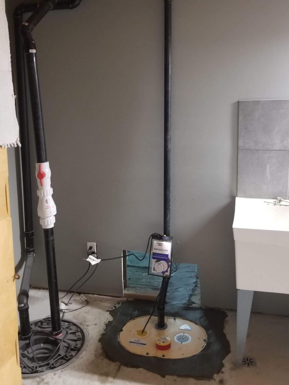 Sump Pump Installation - After Photo