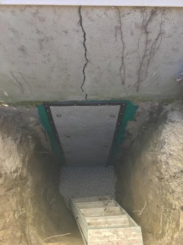 Foundation Crack Repair - After Photo