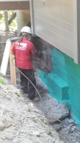Cottage Foundation Waterproofing - Before Photo