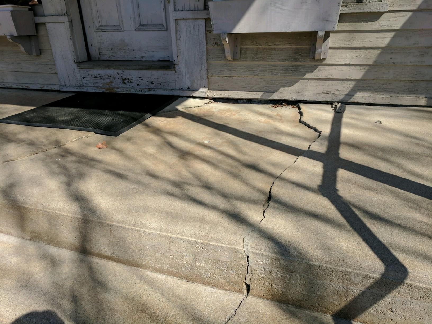 Sinking Front Steps in Warner, New Hampshire - Before Photo