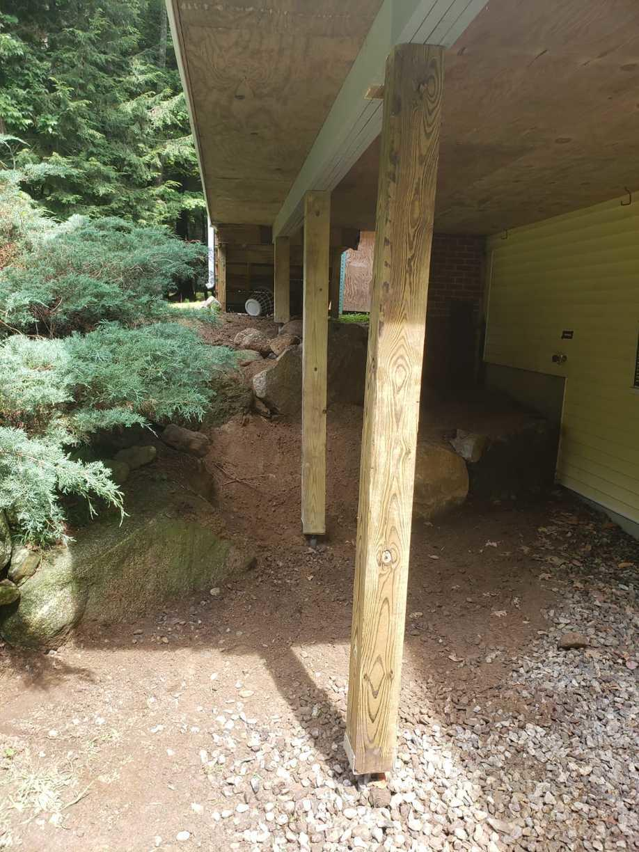 EZ Post Deck Piers, Gilford, NH - After Photo