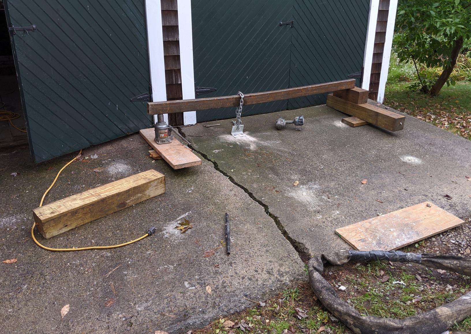 Old Slab Repair, Concord, MA - Before Photo