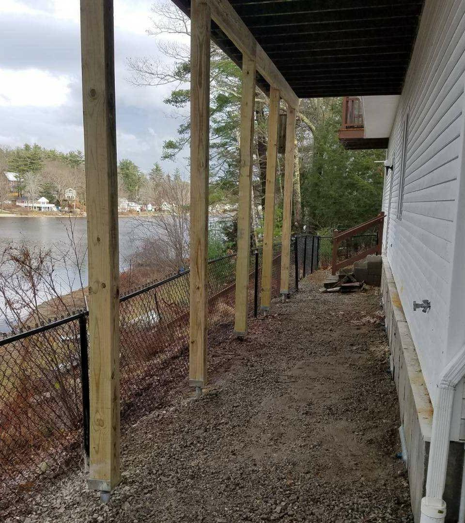 Deck Supports, Sandown, NH - After Photo