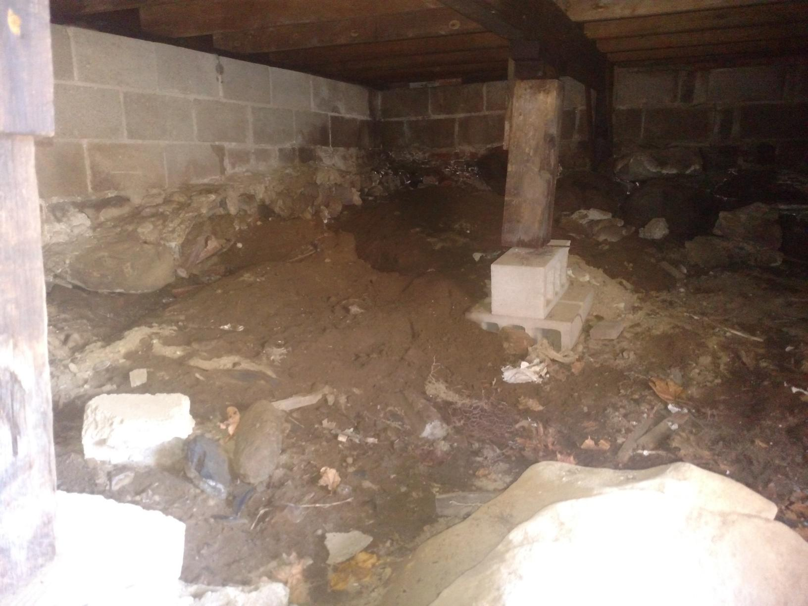 Crawl Space Encapsulation in Portsmouth, NH - Before Photo