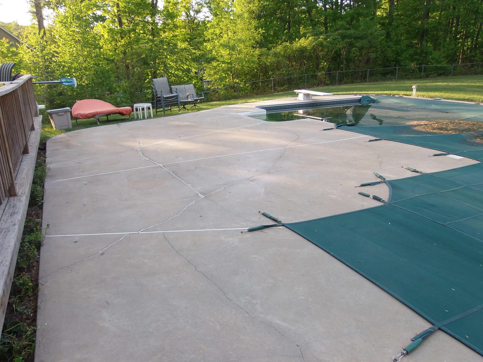 Pool Patio Repair, Brookline, NH - After Photo