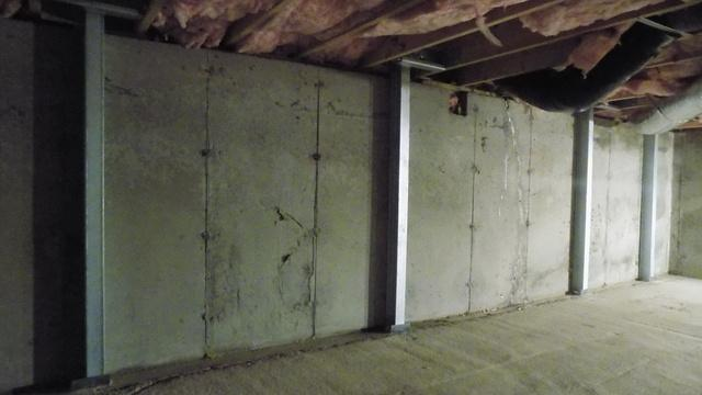 Leaning Crawlspace Wall in Nashua, NH