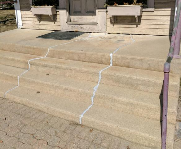Sinking Front Steps in Warner, New Hampshire