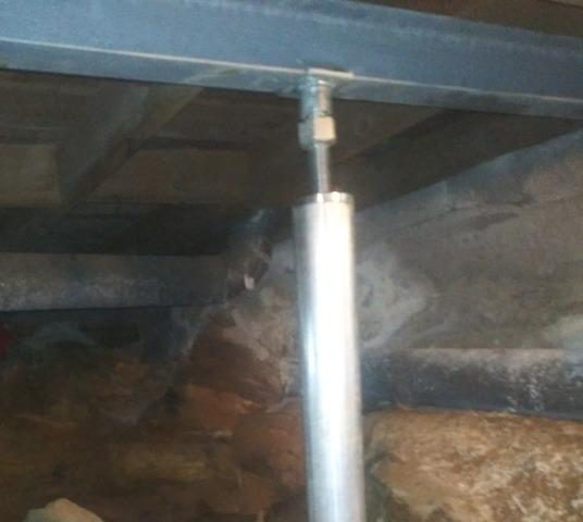Sagging Floors in Crawlspace, Pembroke, NH