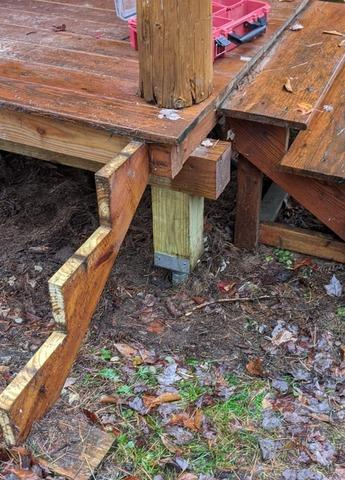 Sinking Porch on Posts, Thornton, NH - After Photo