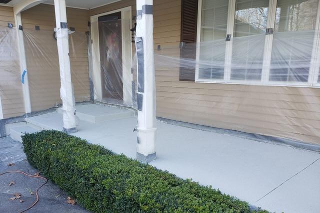 Concrete Porch Repair, Plaistow, NH