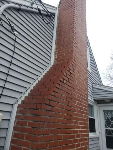 Tilting Chimney Repair, Malden, MA