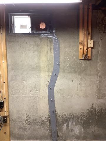 Crack in Foundation Wall, Danville, MA