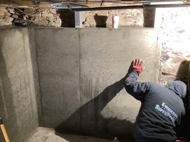 Wall Stabilization, West Newbury, MA