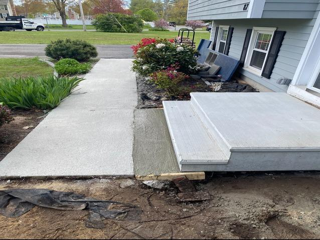 Stair Replacement and Walkway Resurface, Salem, NH