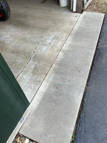 Crack Repair on Garage Floor, Gilford, NH