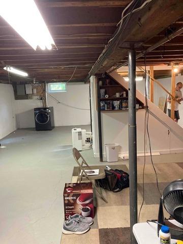 Replacing Old Temporary Post in Basement, Maynard, MA