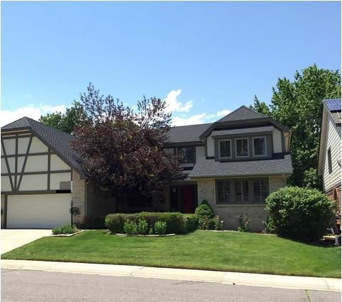 Tidy Tudor Roof Replacement in Englewood, CO - After Photo