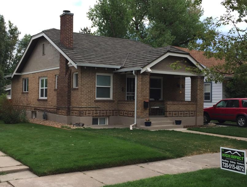 Stone Coated Steel Roof on a Bungalow in Denver, CO - After Photo