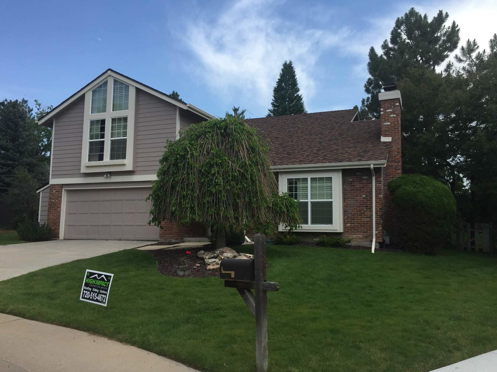 Roof Replacement in Centennial, featuring Shaker Shingles - After Photo
