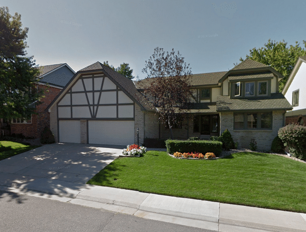 Tidy Tudor Roof Replacement in Englewood, CO - Before Photo