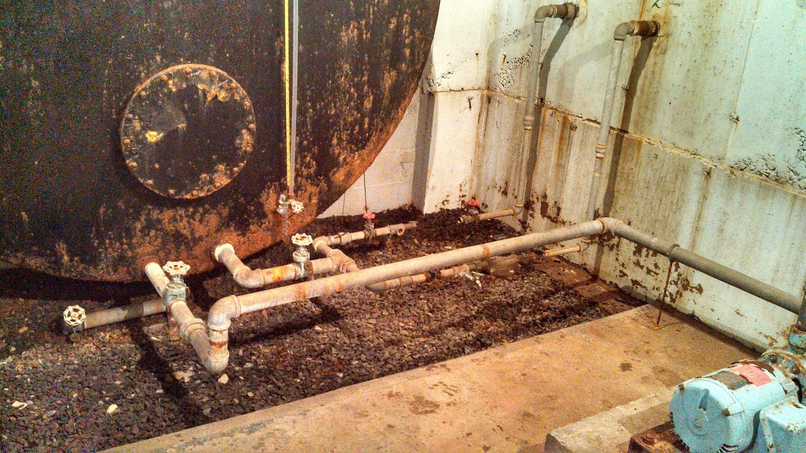 Water Storage Tank Restoration in East Granby, CT - Before Photo