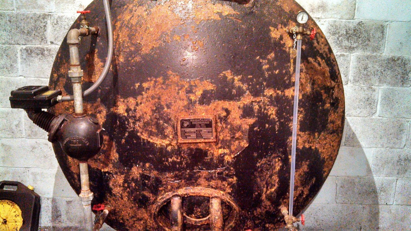 Pressure Tank Restoration in East Granby, CT - Before Photo