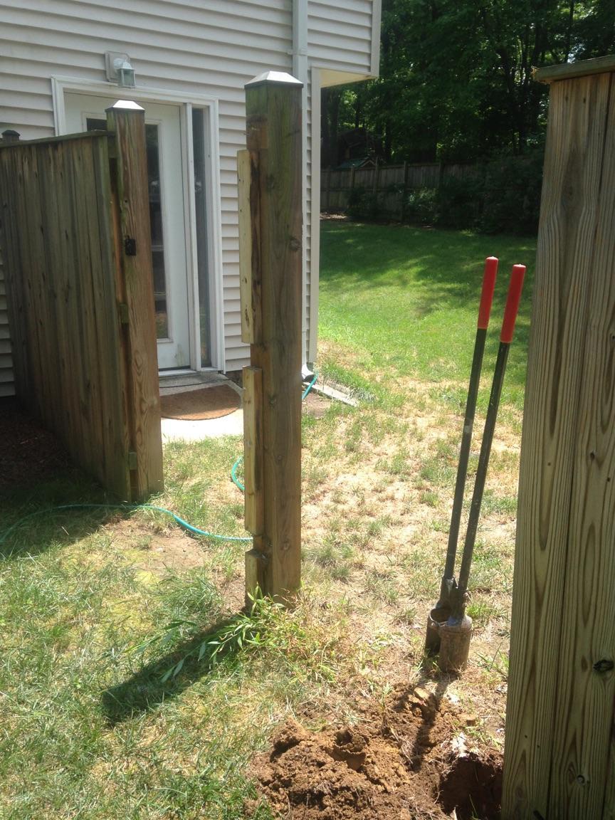 Fence Repair in Berryville, VA - Before Photo