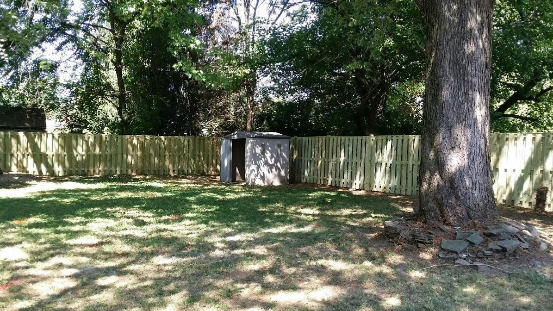 Wood Privacy Fence Installation in Chantilly VA - After Photo