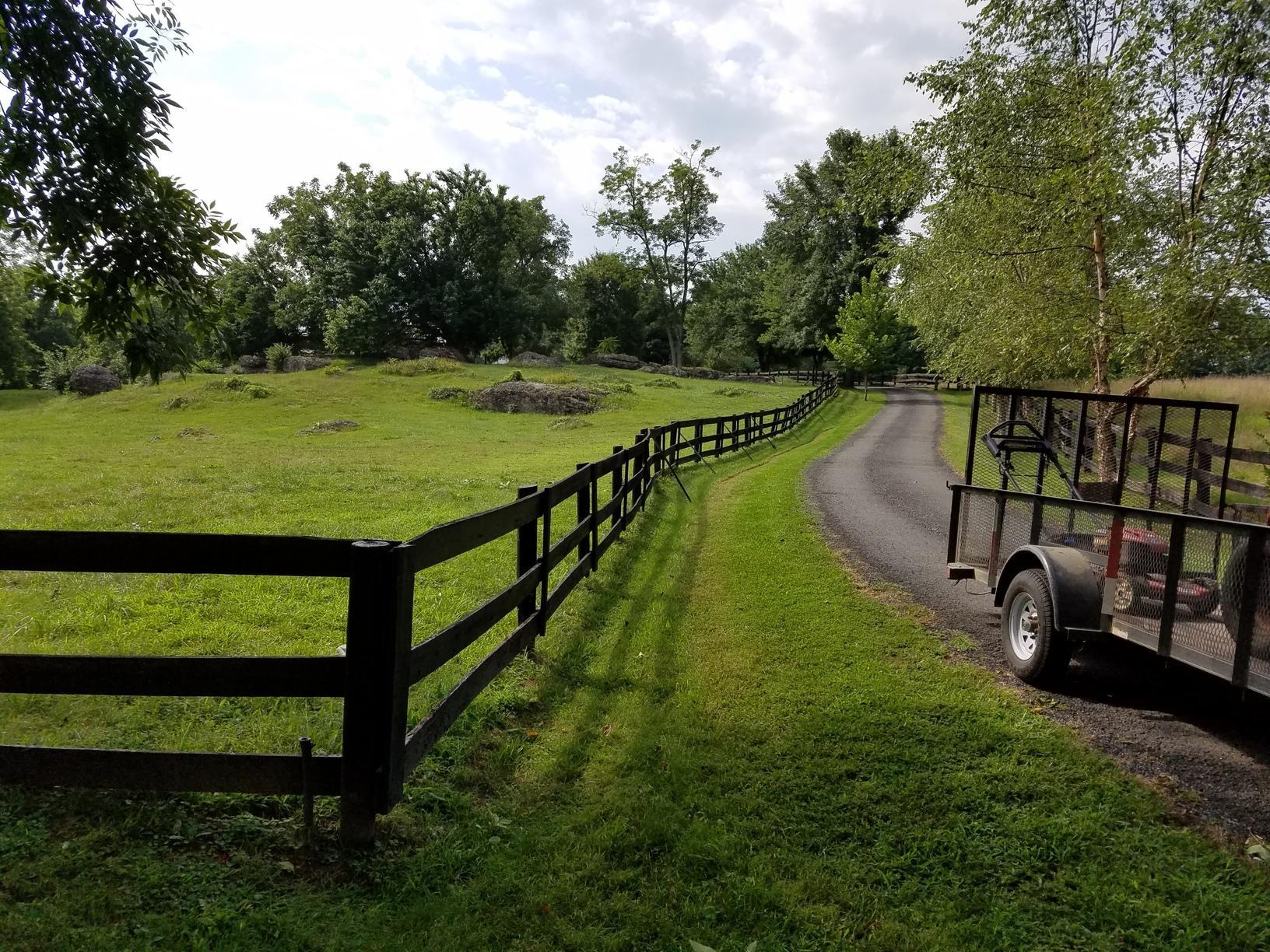 Paddock Fence installation, Hamilton, VA - Before Photo