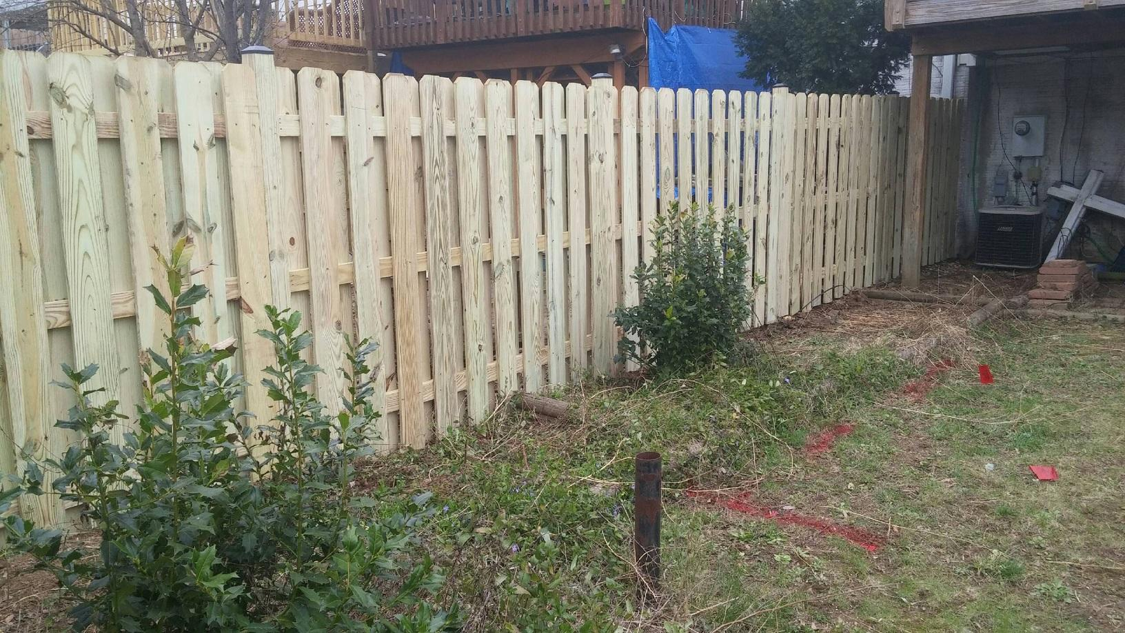 Wooden Privacy Fence Replacement in Front Royal, VA - After Photo